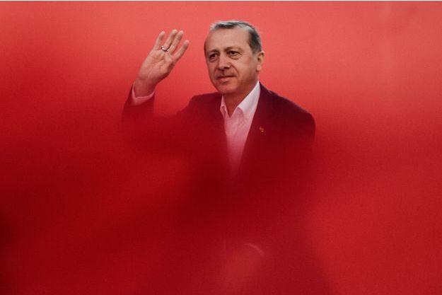 Recep Tayyip Erdogan lors du rassemblement pour la démocratie du 7 août