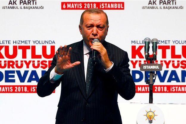 Le président turc Recep Tayyip Erdogan à Istanbul, le 6 mai 2018.