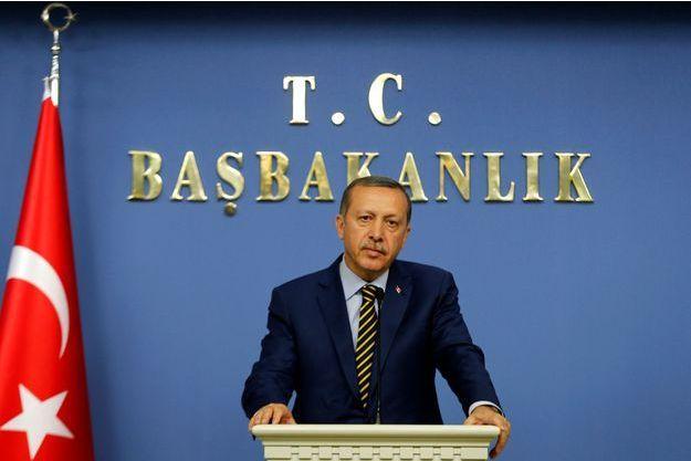 Recep Tayyip Erdoğan mercredi, pendant une conférence de presse à Ankara.