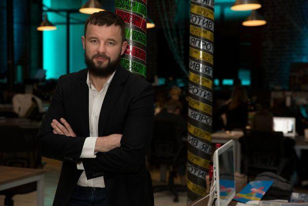 Look de Hipster, Vitali Shliarov à Moscou le 1er mars 2018. A 41 ans, il est le Spin doctor de l'opposante Ksenia Sobtchak