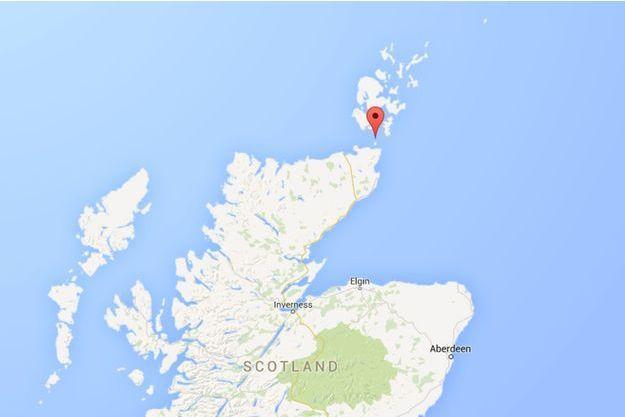 Le cargo s'est échoué au nord de l'Ecosse, à Pentland Firth.