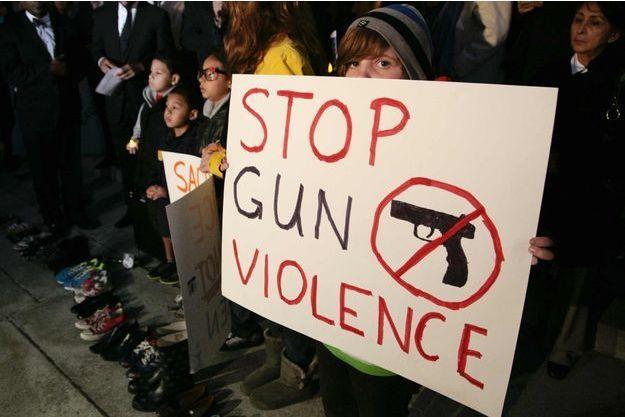 Une manifestation contre les armes à Los Angeles en 2012.