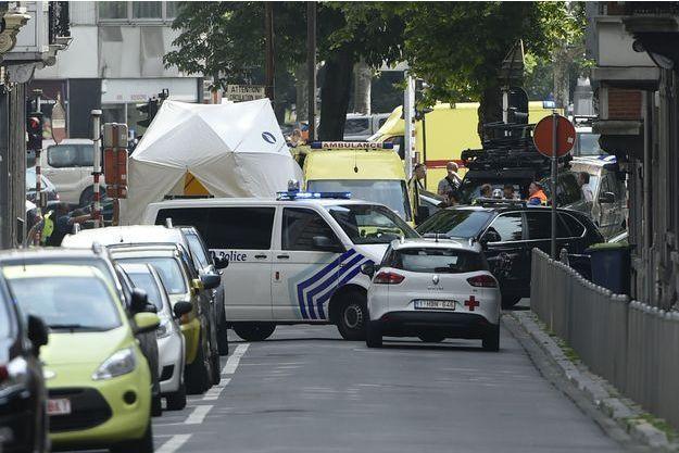 La police belge sur place à Liège.
