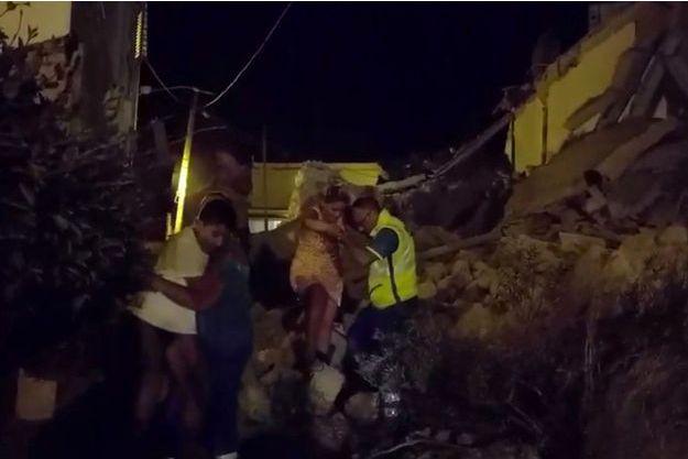 Le séisme a frappé l'île d'Ischia lundi soir.