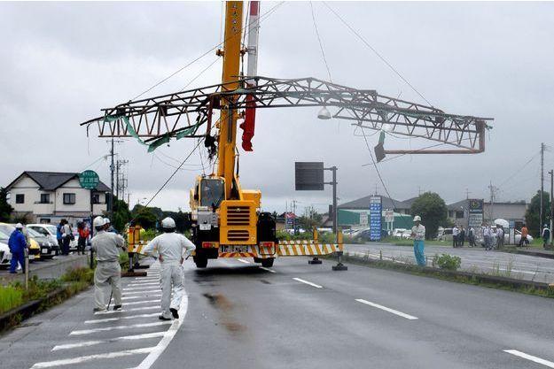 Dégats du passage du typhon au Japon, le 4 juillet 2017.