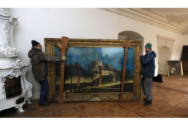 Un tableau de la collection, exposé aux médias au monastère de Doksany