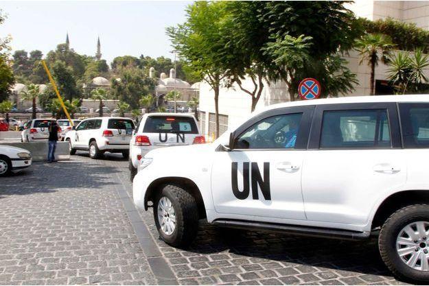 Les inspecteurs de l'ONU sont arrivés sur les lieux de l'attaque chimique de mercredi dernier. Ils se seraient fait tirer dessus par des tireurs embusqués non identifiés.