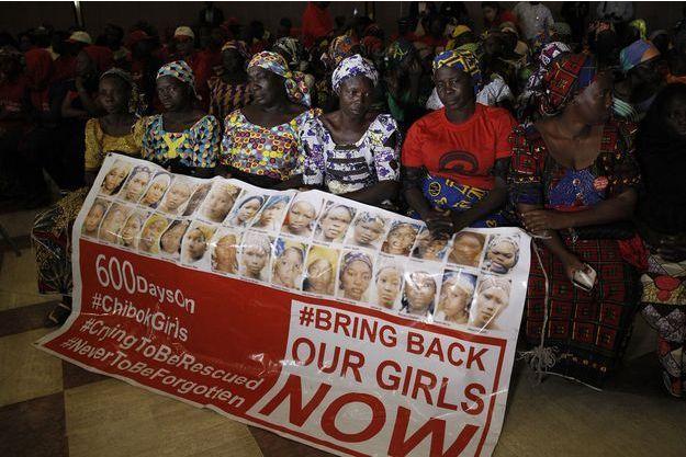 Les parents des jeunes filles enlevées à Chibok étaient réunis en janvier dernier à Abuja, au Nigeria.