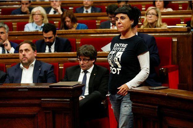 Anna Gabriel à Barcelone, le 10 octobre 2017.