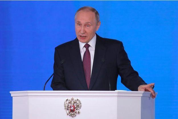 Vladimir Poutine à Moscou, le 1er mars 2018.
