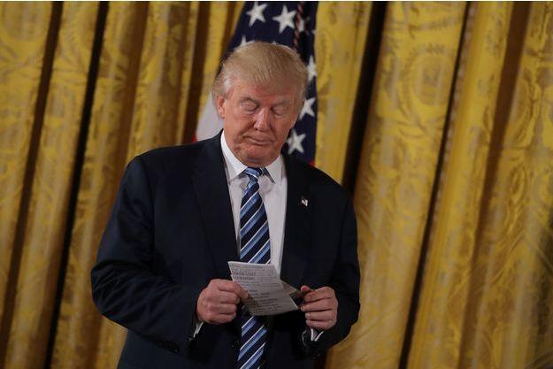 Donald Trump à la Maison Blanche, le 22 janvier 2017.