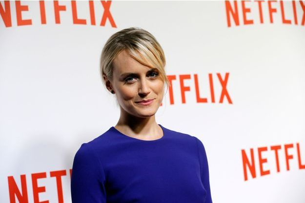 Taylor Schilling, de la série «Orange is the New Black» était à Paris pour la promotion de Netflix.