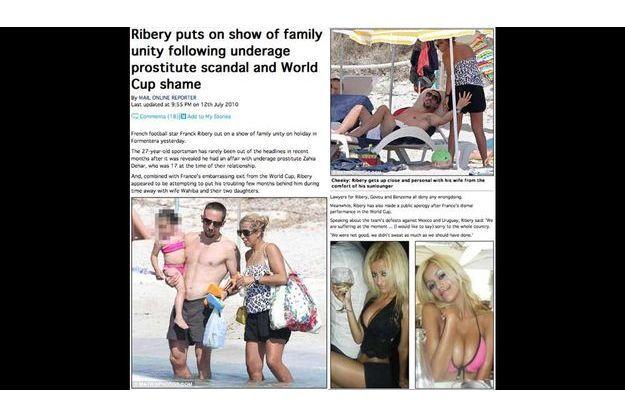 La presse anglaise suit de très près les vacances en famille de Franck Ribéry.
