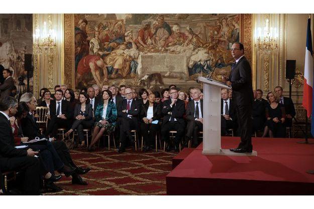 François Hollande, mardi, lors de la première conférence de presse du quinquennat.
