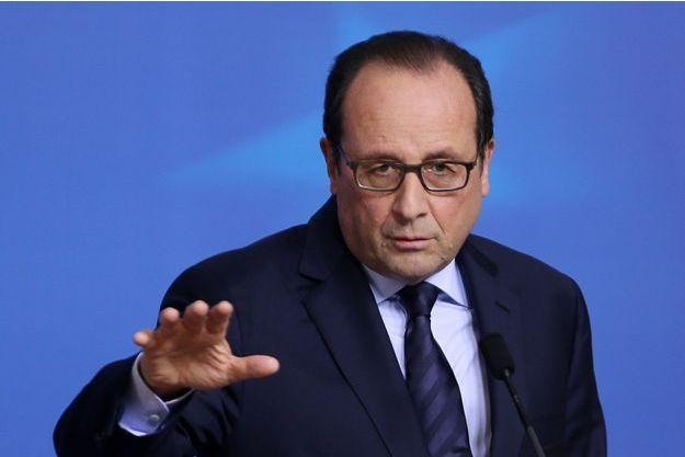 François Hollande à Bruxelles le 24 octobre