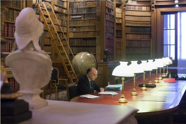 Paris, France, 14 janvier 2015. Dans la bibliothèque de l'Assemblée nationale.
