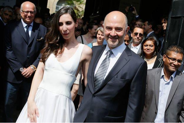 Mariage de Pierre Moscovici et Anne-Michelle Basteri à la mairie du VIème à Paris, en juin 2015.