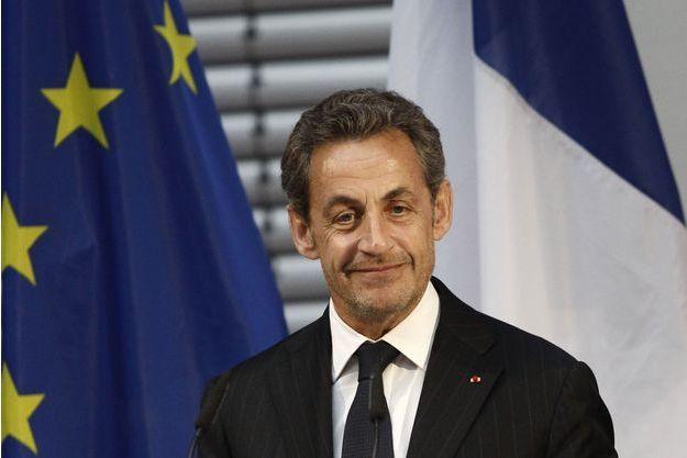 Nicolas Sarkozy, vendredi à Berlin.