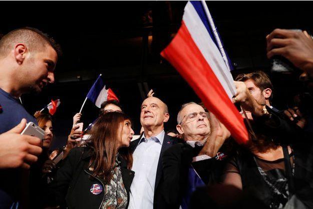Alain Juppé lors du meeting de Malakoff (Hauts-de-Seine).