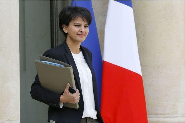 Najat Vallaud-Belkacem à l'Elysée, mercredi.