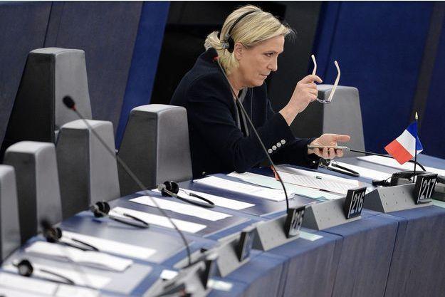 Marine Le Pen le 26 octobre à Strasbourg.