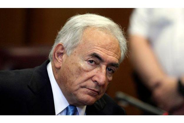 Dominique Strauss-Kahn, attentif lors de l'audience du 1er juillet.