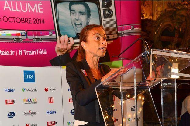 Agnès Saal, ici en octobre 2014 pour l'inauguration du Train de la Télé.