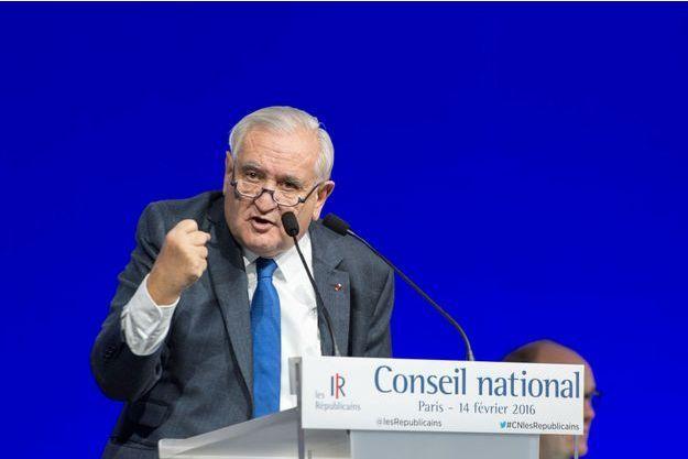 Jean-Pierre Raffarin lors du conseil national des Républicains le 14 février.