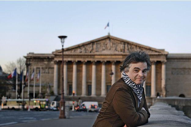Alexandre Jardin devant l'Assemblée nationale en 2015.