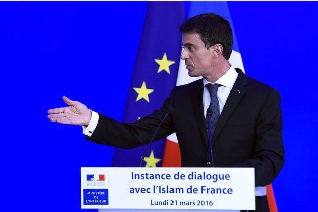 Manuel Valls lundi lors de l'ouverture de l'instance de dialogue avec l'islam de France.
