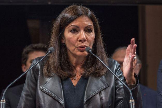 Anne Hidalgo lors de la présentation de ses voeux aux élus, vendredi dernier.