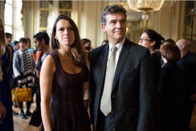 Aurélie Filippetti et Arnaud Montebourg le 30 octobre 2013 lors d'une cérémonie organisée par l'Association nationale pour le développement des arts et de la mode.