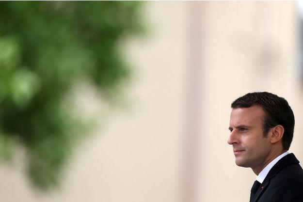 Emmanuel Macron le 26 juillet dernier à Saint-Etienne-du-Rouvray.