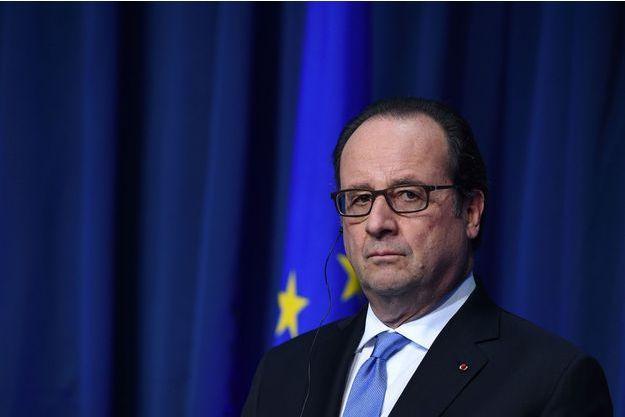 François Hollande lors d'une conférence de presse à Dublin, le 21 juillet.