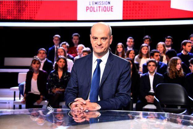 """Jean -Michel Blanquer, jeudi soir dans """"L'Emission politique""""."""