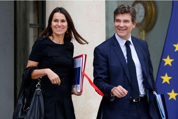 Aurélie Filippetti et Arnaud Montebourg, le 18 septembre dernier, sur le perron de l'Elysee.