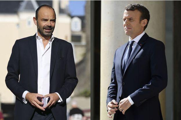 Edouard Philippe et Emmanuel Macron voient tous deux leur cote d'approbation reculer.