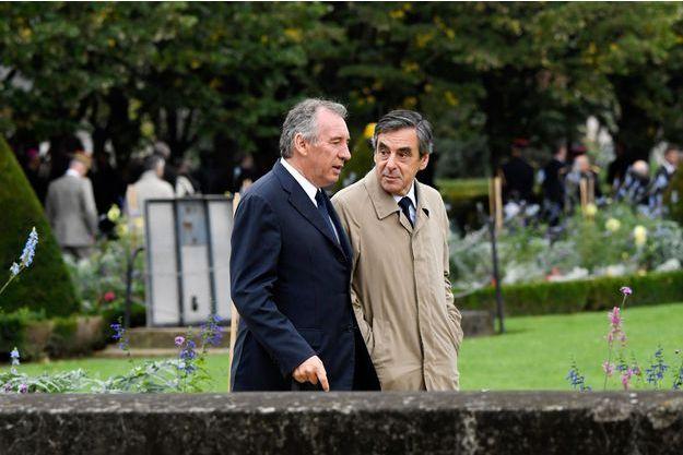 François Bayrou et François Fillon, en septembre dernier lors de la cérémonie d'hommage aux victimes du terrorisme.