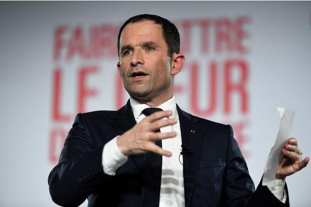 Benoît Hamon lors de son meeting le 26 janvier 2017.