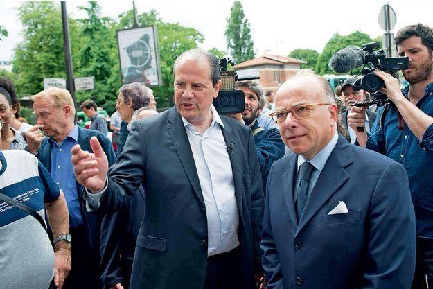 Jean-Christophe Cambadélis et Bernard Cazeneuve.