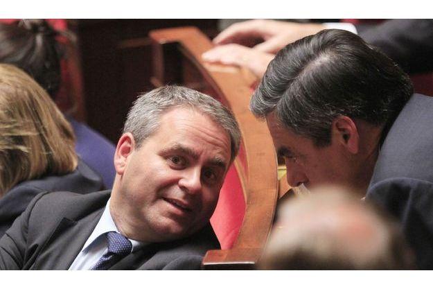 Xavier Bertrand et François Fillon à l'Assemblée nationale, début octobre.