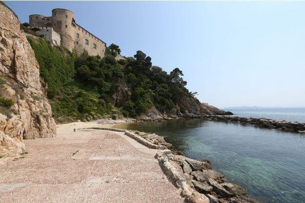 Vue du fort de Brégançon.