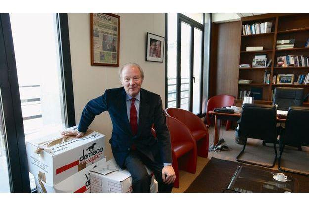 Accaparé par ses nouvelles fonctions, le vice-président de l'UMP n'a pas eu le temps de ranger les cartons de son ancien bureau du ministère de l'Intérieur.