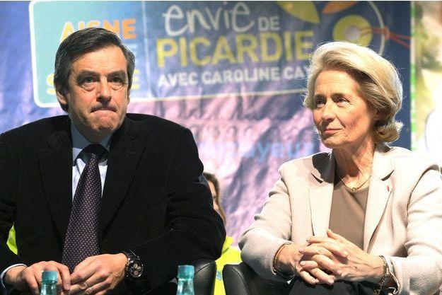 François Fillon et Caroline Cayeux, en mars 2010.