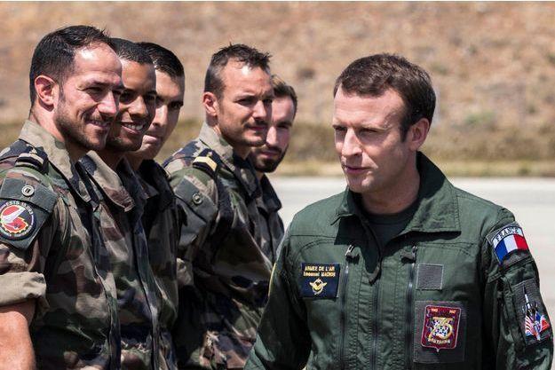 Emmanuel Macron s'est rendu sur la base aérienne d'Istres le 20 juillet dernier.