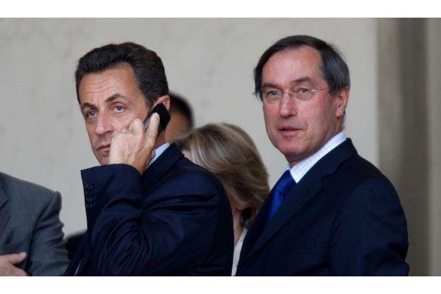 Claude Guéant (à dr.) et Nicolas Sarkozy.