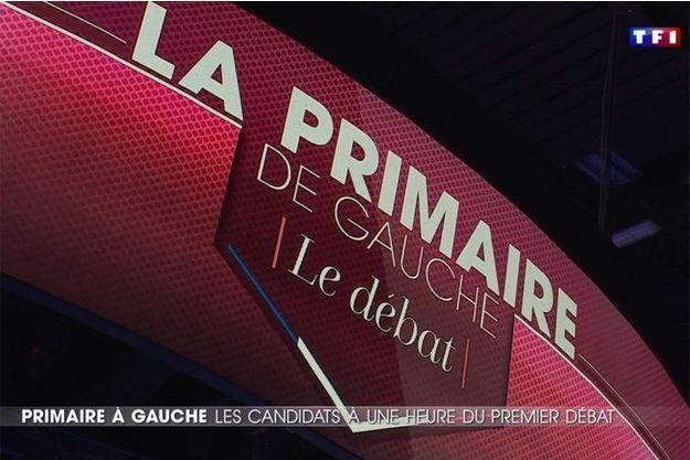 Sur le plateau du premier débat de la primaire à gauche, sur TF1, jeudi soir.