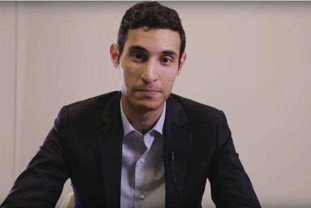 Rayan Nezzar dans une vidéo LREM