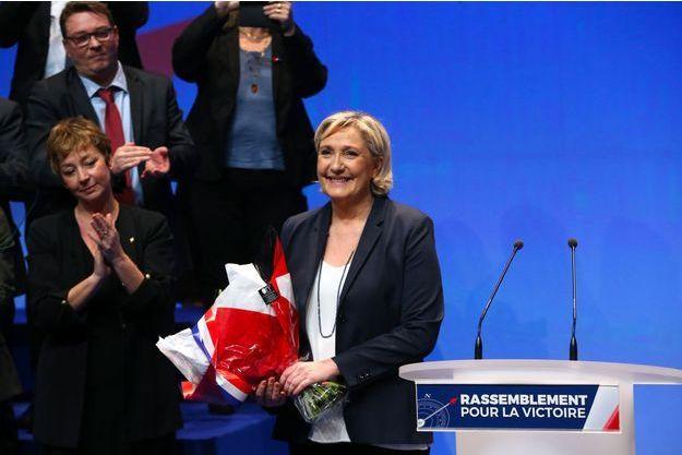 Dimanche, au congrès du Front national.
