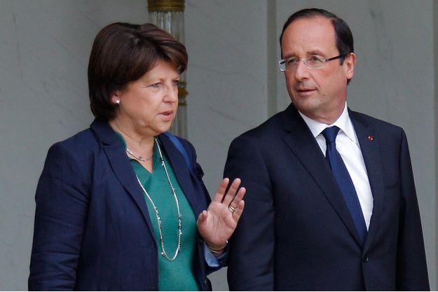 Francois Hollande et Martine Aubry, à l'Elysée en 2012.